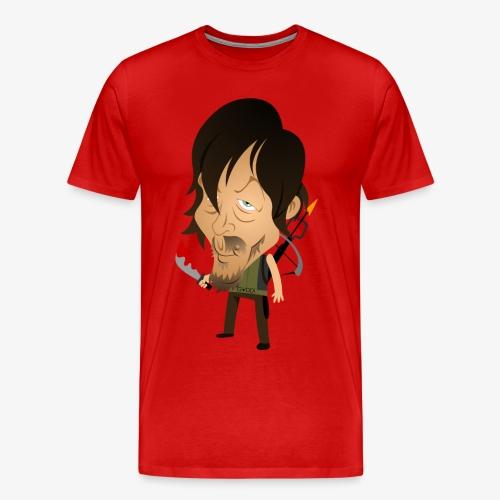 Daryl Dixon Norman Reedus form The Cartoons Dead - Men's Premium T-Shirt