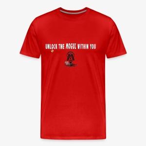 Unlock The Mogul Within Black and White Logo - Men's Premium T-Shirt