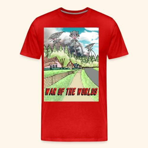 Alien Invasion Poster - Men's Premium T-Shirt