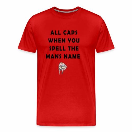 MFDOOM ALL CAPS - Men's Premium T-Shirt