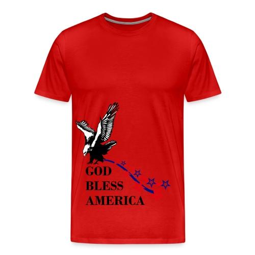 CUSTOM DESIGN GOD BLESS AMERICA - Men's Premium T-Shirt