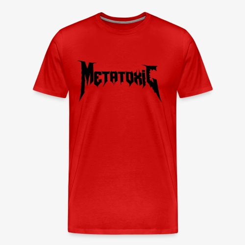 METATOXIC Text Logo (Black) - Men's Premium T-Shirt