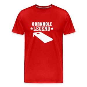 Cornhole Legend Funny Corn Hole Lawn Game - Men's Premium T-Shirt