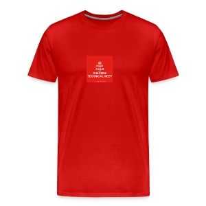 KeepCalm red and white edition - Men's Premium T-Shirt