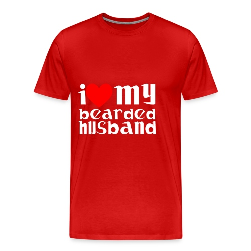 beard husband - Men's Premium T-Shirt