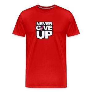 Never Give Up Tee - Men's Premium T-Shirt