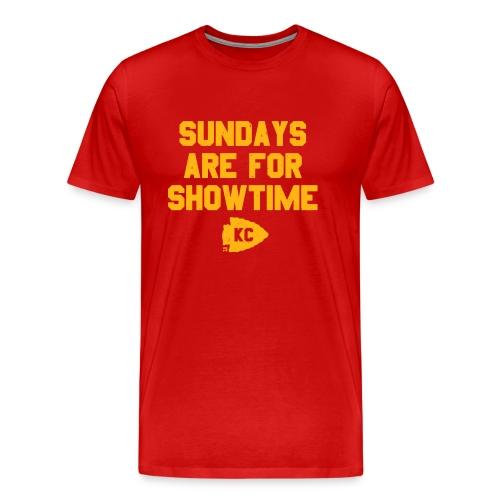 FOOTBALL: Sundays are for Showtime - Men's Premium T-Shirt