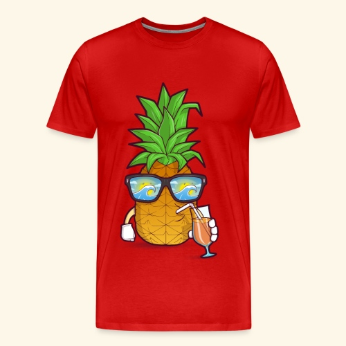 Pinapple Blue Sea - Men's Premium T-Shirt