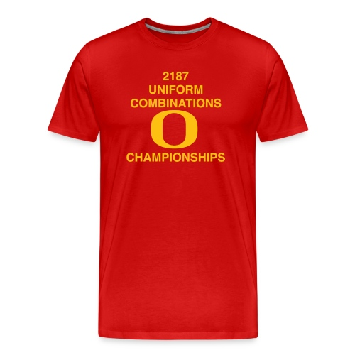 2187 UNIFORM COMBINATIONS O CHAMPIONSHIPS - Men's Premium T-Shirt