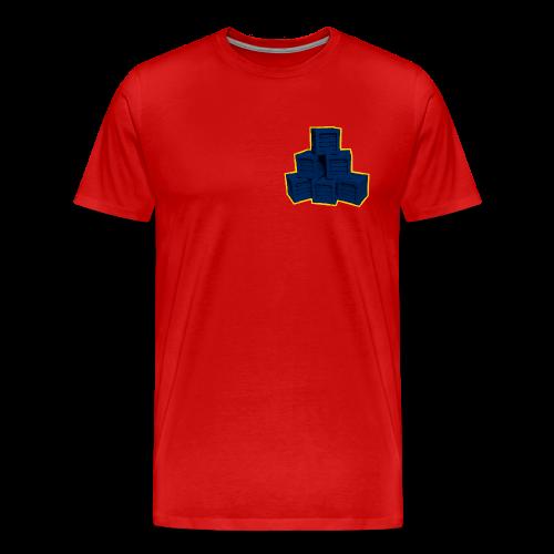 Blue Box LowPoly - Men's Premium T-Shirt