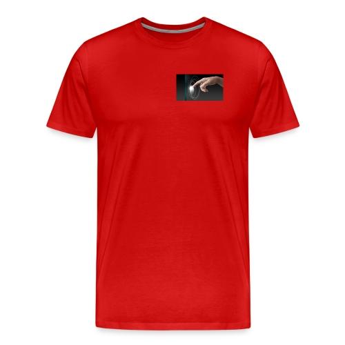hand working on modern technology G1L0zcHd - Men's Premium T-Shirt
