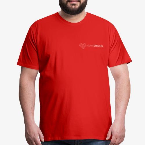 Heartstrong logo (white) - Men's Premium T-Shirt