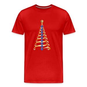 Christmas Tree Back The Blue - Men's Premium T-Shirt