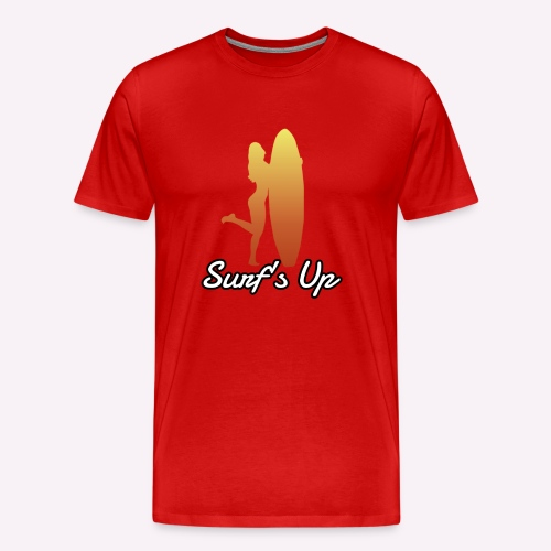 surfs up - Men's Premium T-Shirt