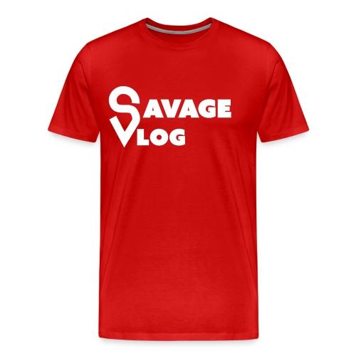SAVAGE VLOG EDITION BLANC - Men's Premium T-Shirt