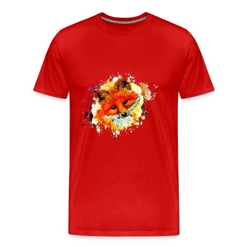 fox face - Men's Premium T-Shirt