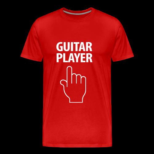 GUITAR PLAYER-white Design - Men's Premium T-Shirt
