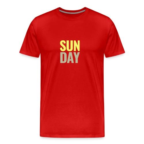 Sunday Days of the Week T-Shirt - Men's Premium T-Shirt