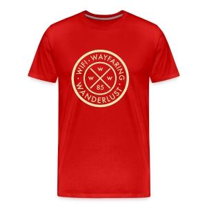Wifi, Wayfaring, & Wanderlust - Men's Premium T-Shirt