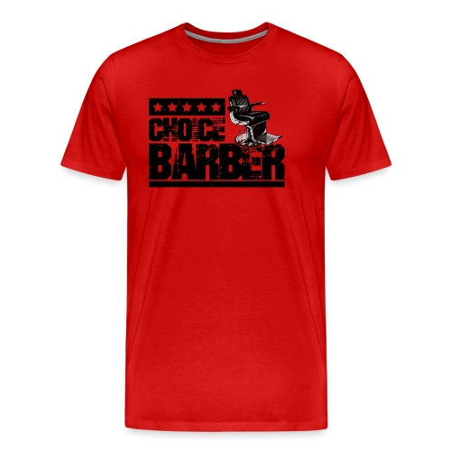 Choice Barber 5-Star Barber - Black - Men's Premium T-Shirt