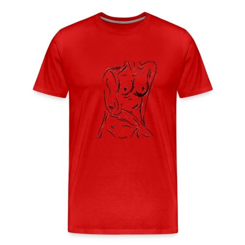 Esquisse - T-shirt premium pour hommes