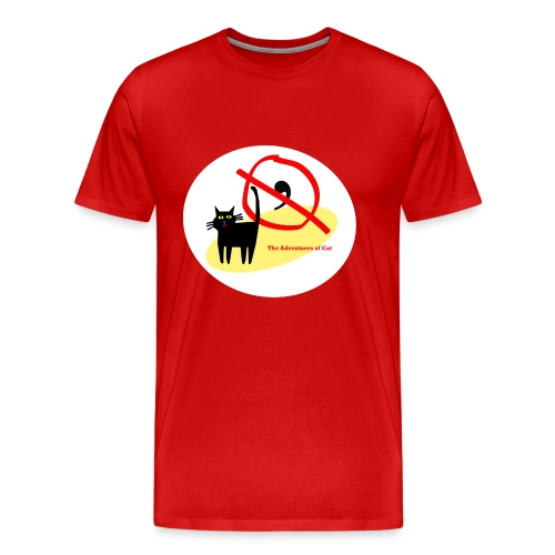 Cat Engages in Fisticuffs - Men's Premium T-Shirt