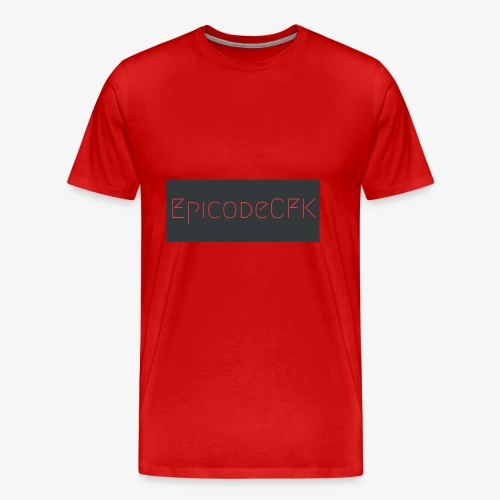 EpicodeCFK (Red & Gray) Logo - Men's Premium T-Shirt