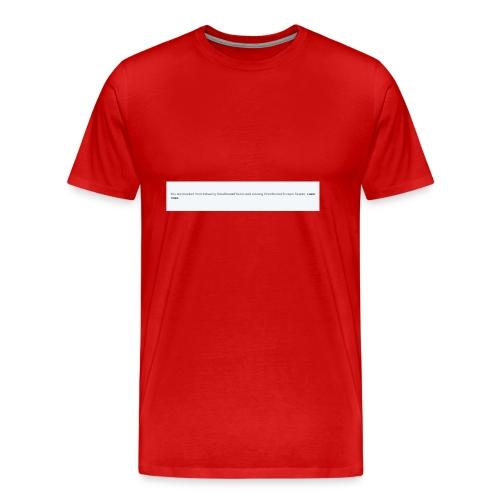 Blocked by Donald Trump on Twitter - Men's Premium T-Shirt