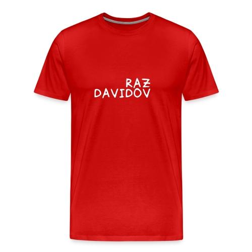 Raz Davidov Text - Men's Premium T-Shirt