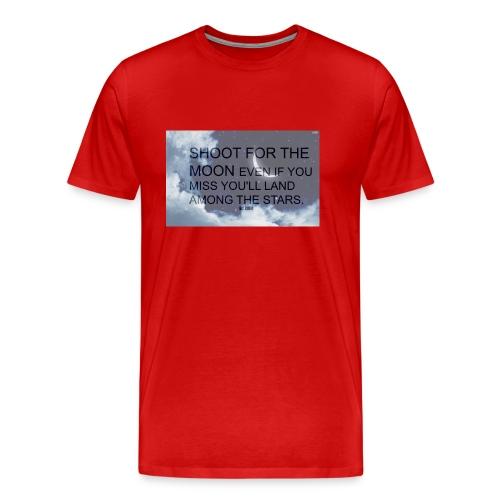 simple background white background wallpaper 1 - Men's Premium T-Shirt