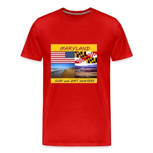 MARYLAND SURF AND DIRT HUNTERS group LOGO LARGE - Men's Premium T-Shirt