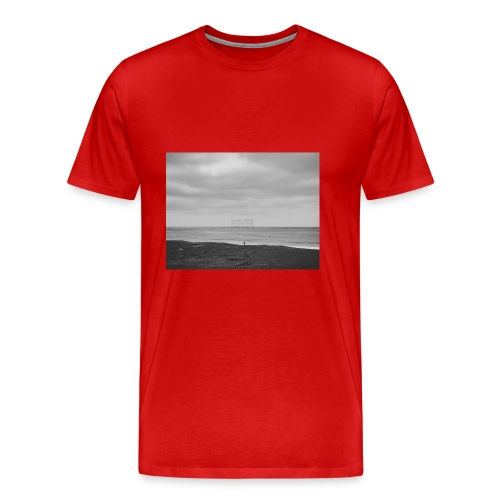 Black and White Beach Photo by Trevor J. Brown - Men's Premium T-Shirt