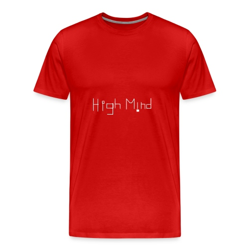 HIGH MIND ORIGINAL WHITE BLACK - Men's Premium T-Shirt