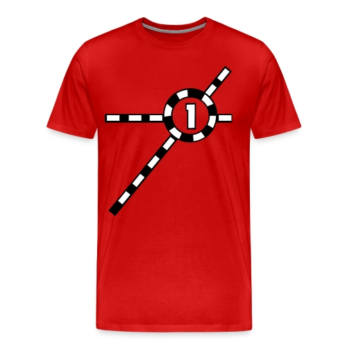 Red Exceler #1 - Men's Premium T-Shirt