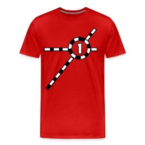 Red Exceler #1 - Men's Premium T-Shirt