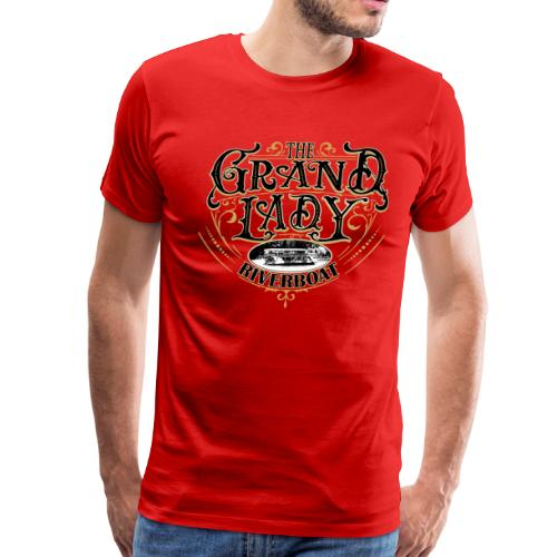 Fancy Riverboat - Black Lettering - Men's Premium T-Shirt