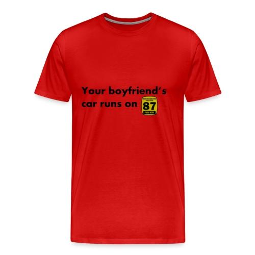 Boyfriend Gas Preference - Men's Premium T-Shirt