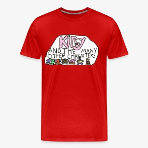 Kirby and the many other characters - Men's Premium T-Shirt