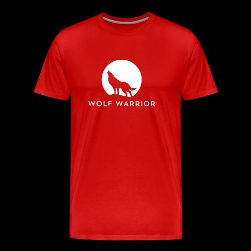 Red/Grey Wolf - Men's Premium T-Shirt