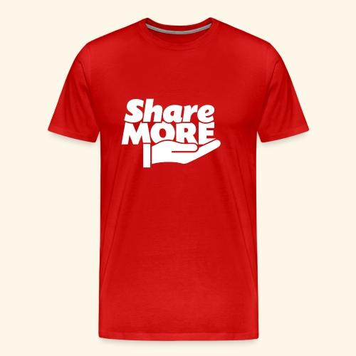 share more retro white - Men's Premium T-Shirt