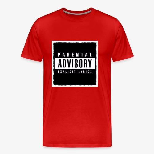 BLACK PARENTAL ADVISORY EXPLICIT LYRICS DESIGN - Men's Premium T-Shirt