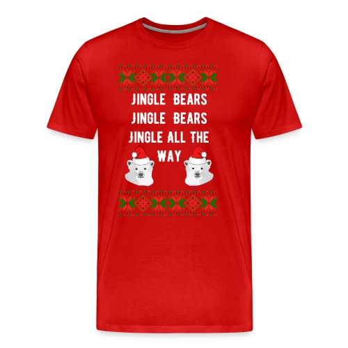 Jingle Bears (White Text) - Men's Premium T-Shirt