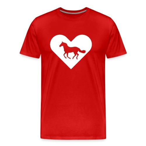 Heart-Horse (white) - Men's Premium T-Shirt