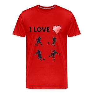 Geek T-shirt I love soccer - Men's Premium T-Shirt