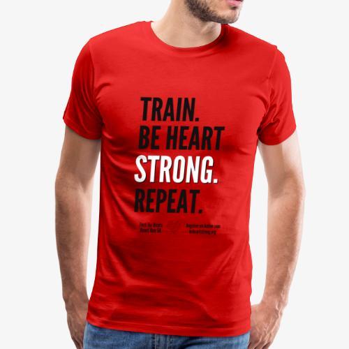 Heart Run training shirt - Men's Premium T-Shirt
