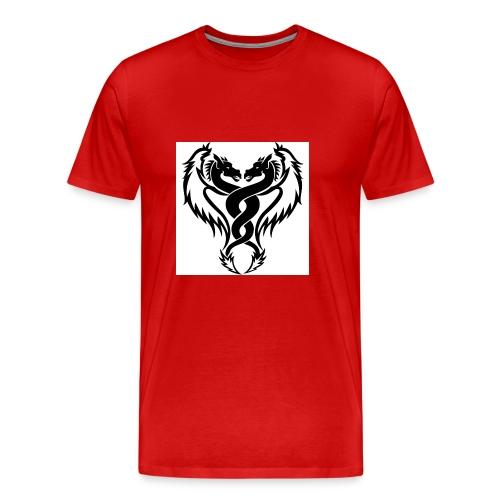 Black And White Dragon Tattoo Designs - Men's Premium T-Shirt