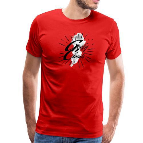 Goofy Clouds Script - Men's Premium T-Shirt