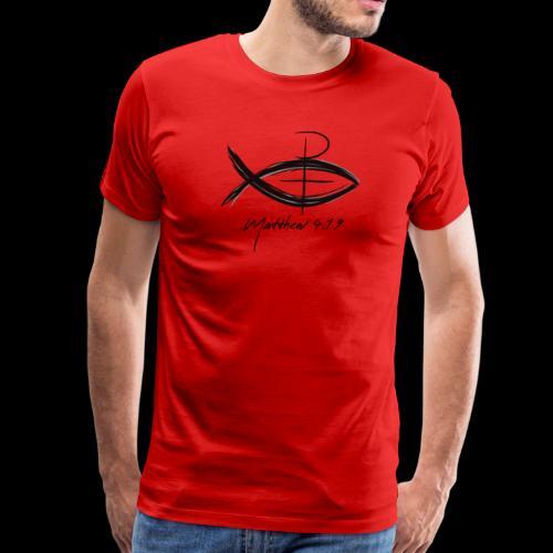 Matthew 4:19 Fishers of Men Jesus Fish - Men's Premium T-Shirt