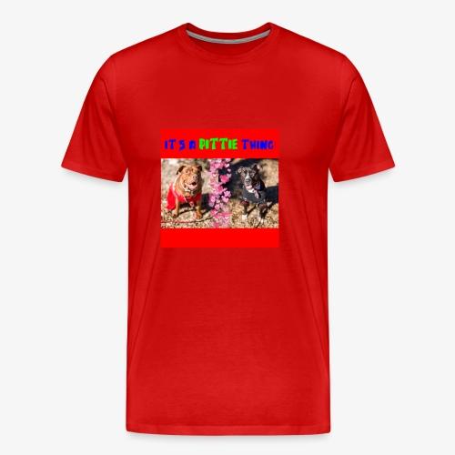 pittie thing flat red j - Men's Premium T-Shirt