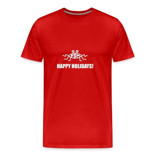 Happy Holidays (Flying Spaghetti Monster) - Men's Premium T-Shirt